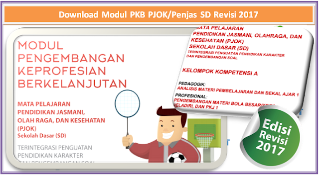Download Modul PKB PJOK/Penjas SD Revisi 2017 kampung operator.com