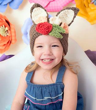 amigurumi crochet Easter Bunny headband