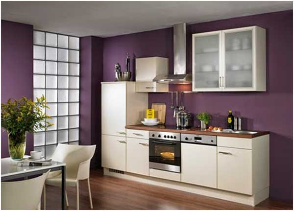 Penggunaan warna ungu pada dapur