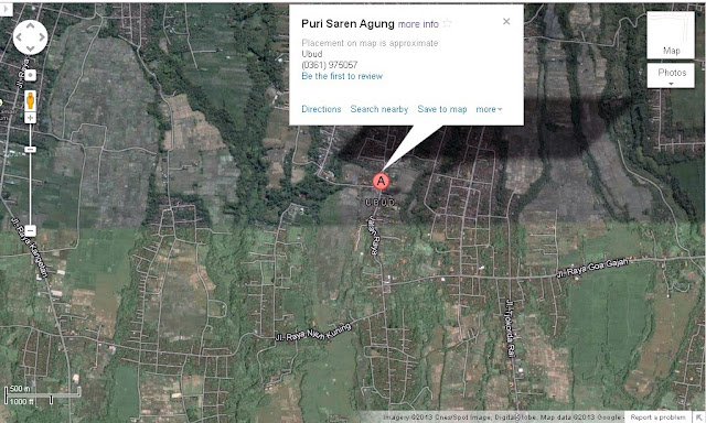 Location Map of Water Palace/Royal Palace/Puri Saren Agung Ubud Bali,Water Palace Ubud/Puri Saren Agung location map,Water Palace Ubud/Puri Saren Agung Accommodation destinations attractions hotels map
