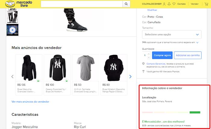 ec65ea82d7bee Depois de verificar a reputação do vendedor, é hora de observar se o  produto está aqui no Brasil, se é à pronta entrega, se é importado, etc.