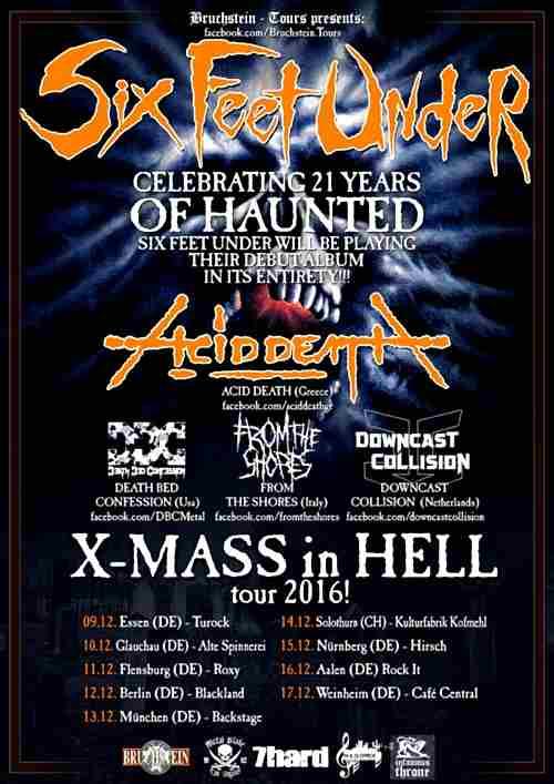 "ACID DEATH: Οι τελικές ημερομηνίες και το lineup της ""Xmas In Hell Tour 2016"""