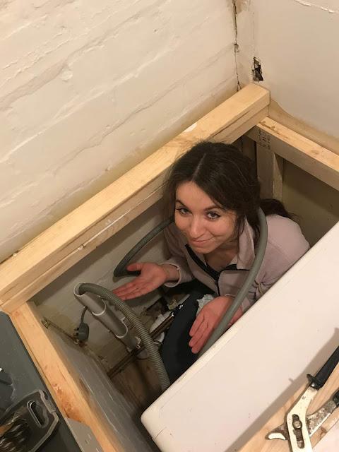 girl doing plumbing