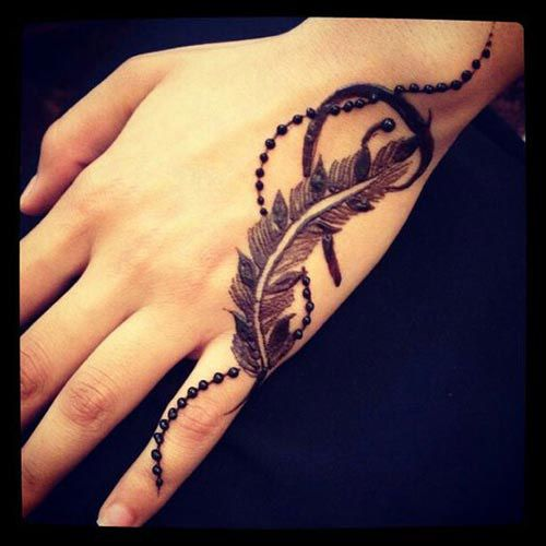 10 Gorgeous Feather Henna Designs to try this Festive Season