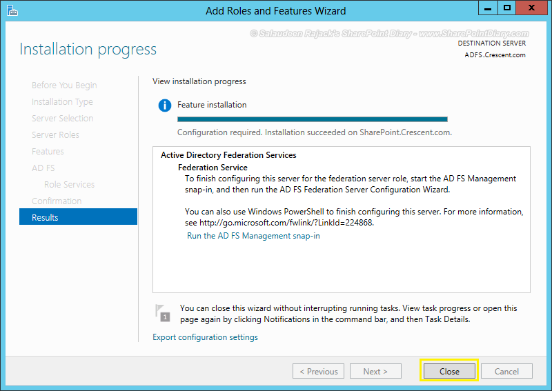 adfs sharepoint step by step