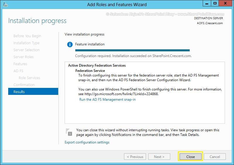 adfs sharepoint step by step