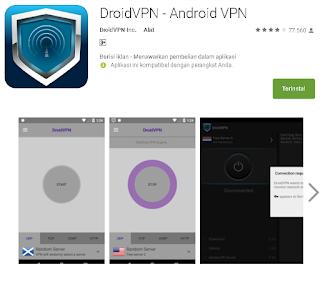 Ulasan Secara Lengkap Tentang DroidVPN - Android VPN