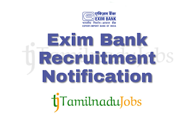 Exim Bank Recruitment notification of 2018