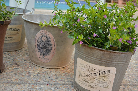 how to add vintage charm to old buckets