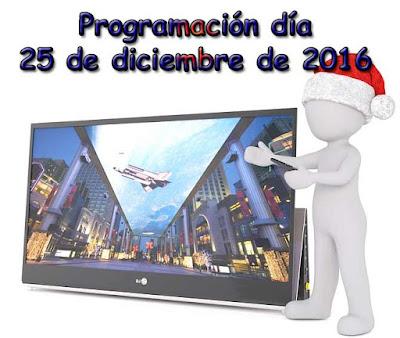 programacion del dia de navidad en la television
