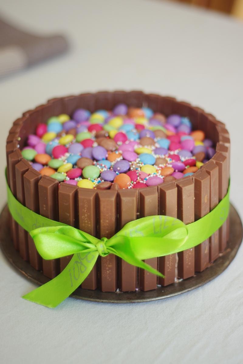 Meine Lieblings Rezepte Smartie Kitkat Torte