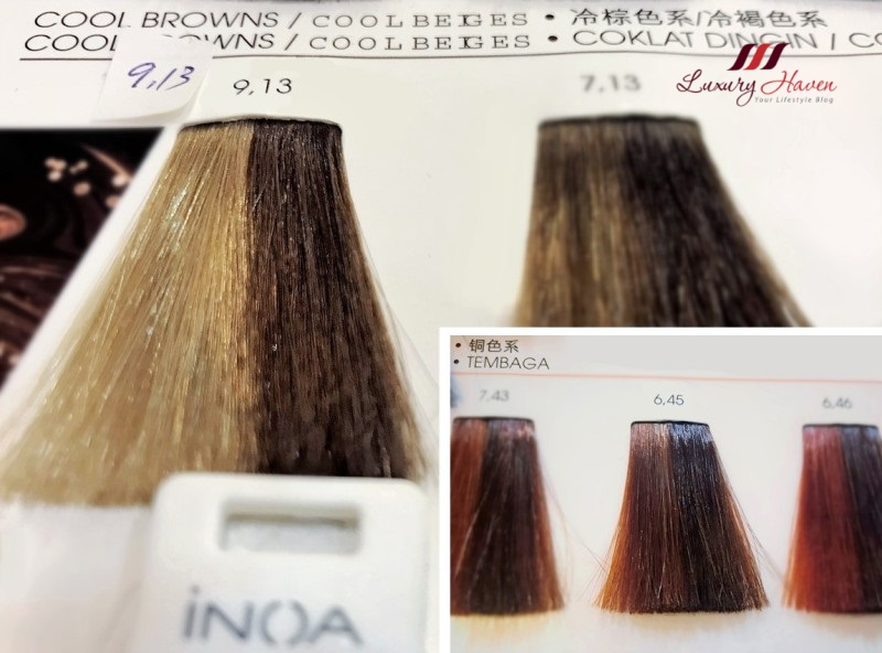 mosche hair inoa dark copper mahogany blonde