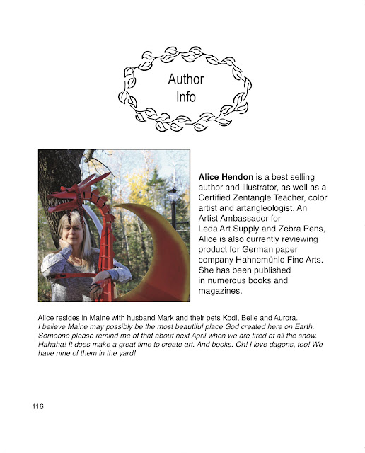 author bio for Tangle Starts Strings, Alice Hendon, The Creator's Leaf