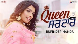 Queen of Sardar Lyrics | Rupinder Handa | MR. WOW