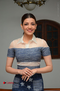 Actress Kajal Agarwal Latest Stills at Khaidi No 150 Movie Interview  0115.JPG