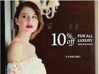 Promo Diskon 10% All Luxury Collection 1-3 Juli 2017