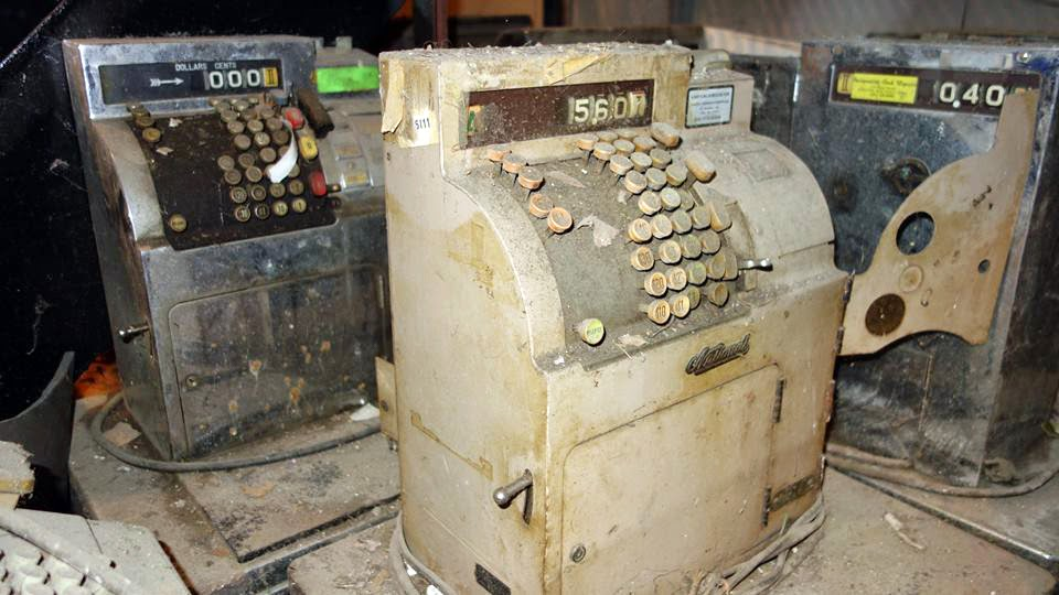 Towpath cash registers that have been in storage since 1982