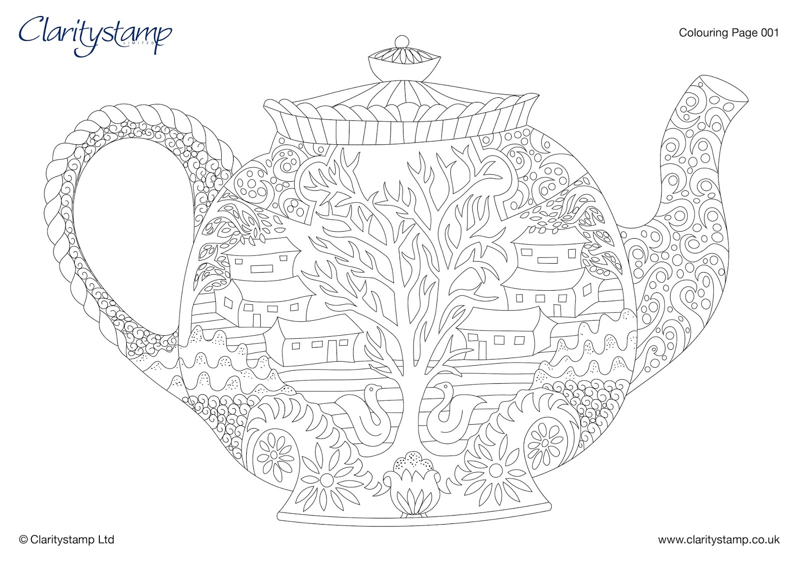 Barbara gray 39 s blog one day at a time time for tea and for Free mindfulness coloring pages