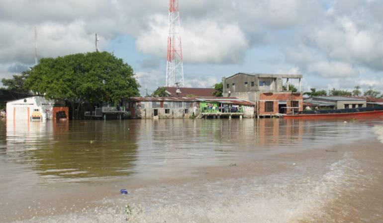 En máxima alerta está Guaranda porque el río Cauca está a centímetros de desbordarse