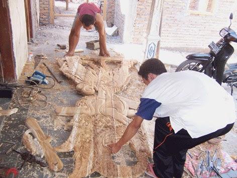 Industri ukir jatiwangi Punduhsari Manyaran Wonogiri