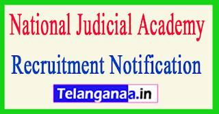 National Judicial Academy NJA Recruitment Notification 2017