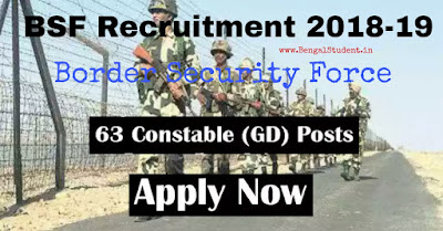 BSF Constable Recruitment 2019 – Apply Online for 63  Posts-www.bengalstudent.in