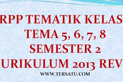 RPP Kelas 2 Tema 5, 6, 7, 8 Semester 2 Th. 2019