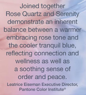 Trend Report: Pantone 2016 Colors of the Year: Rose Quartz and Serenity