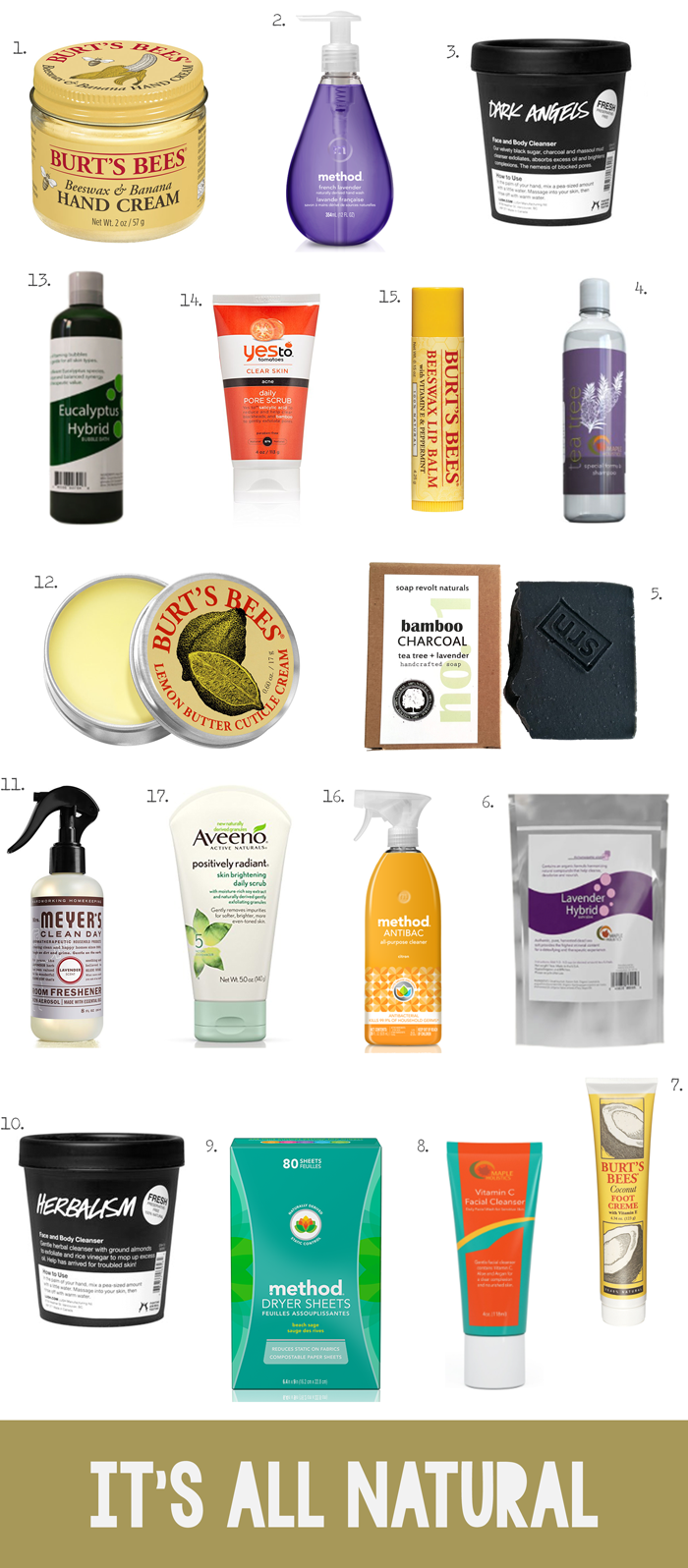 Eco friendly, sustainable, cruelty free, green, holistic beauty, personal care and cleaning products, shopping trends