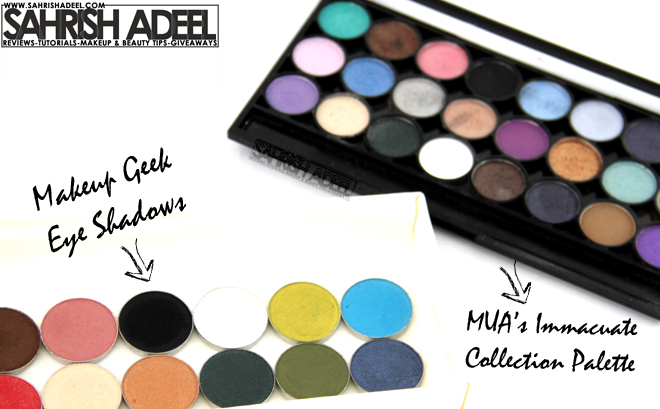 Eye Shadows by MUA Makeup Academy & Makeup Geek