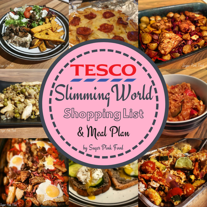 Tesco Slimming World Friendly Shopping List \u0026 Meal Plan
