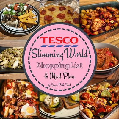 Tesco Shopping List & meal Plan Slimming World
