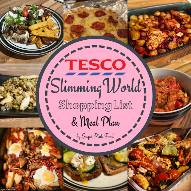 Tesco Shopping List & meal Plan Slimming World