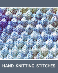Learn Bubble Textured Pattern with our easy to follow instructions at HandKnittingStitches.com