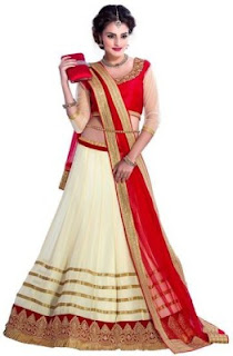 V-Art Embellished, Embroidered Women's Lehenga, Choli and Dupatta Set