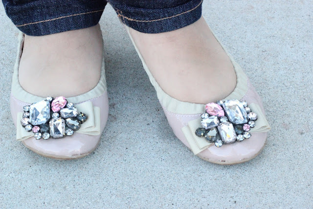 Forever 21 Pink Embellished Flats
