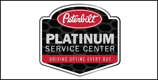 Peterbilt Platinum Service Center Logo