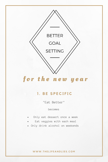 specific goals, resolutions, new years