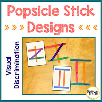 Visual Discrimination, Popsicle Stick Designs