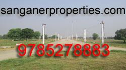 Commercial land corner plot main Chordiya Petrol Pump in Sanganer