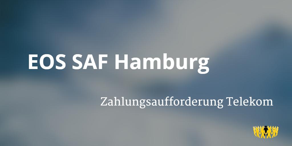 Eos Saf Hamburg Zahlungsaufforderung Telekom Verbraucherdienst Ev