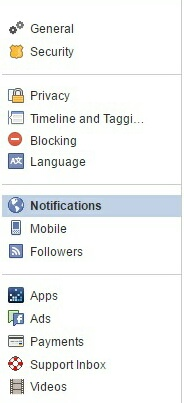 Notification tab