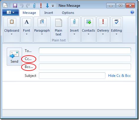 E-Mail Cc
