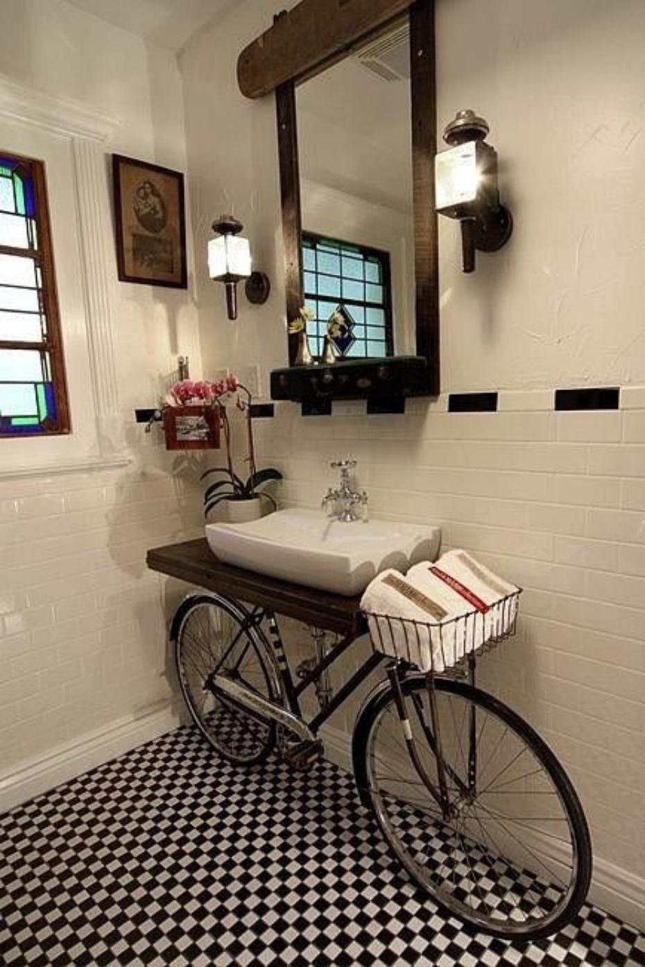 bicicleta lavabo
