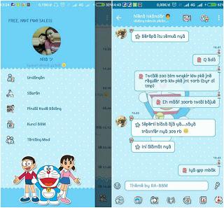 BBM Mod Doraemon Versi 3.3.7.97 Apk