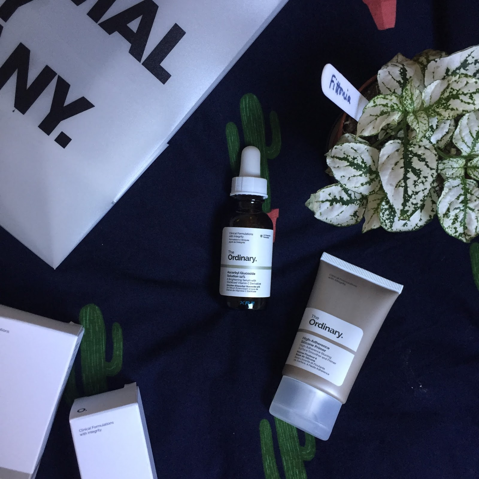 The Ordinary ascorbyl glucoside solution 12% and high adherence silicon primer