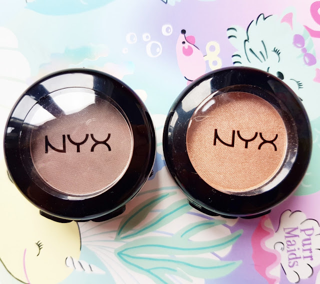 NYX Hot Singles Eye Shadow in Innocent & Over The Taupe