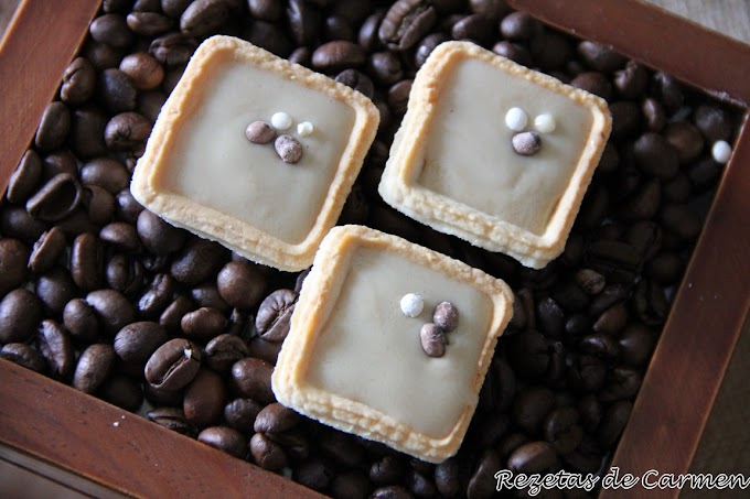Tartaletas de crema de café