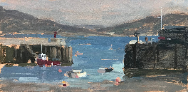 #263 'Harbour Entrance, Lyme Regis' 5×10″