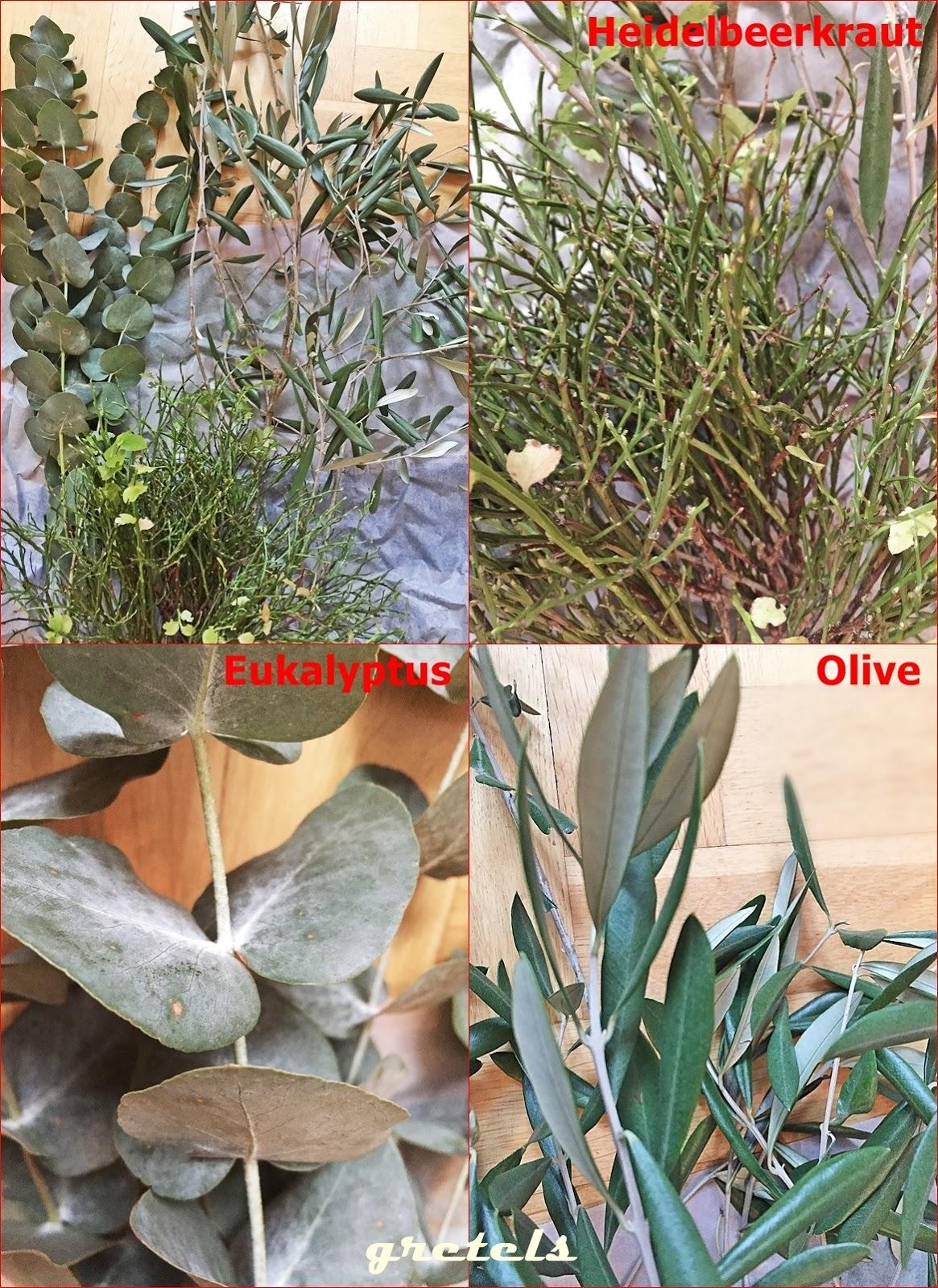 Adventskranz mit eukalyptus